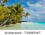 aitutaki polynesia cook islands ... | Shutterstock . vector #710085367