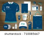 network sport gift items  color ... | Shutterstock .eps vector #710085667
