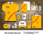 network sport gift items  color ... | Shutterstock .eps vector #710086777