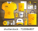 network sport gift items  color ... | Shutterstock .eps vector #710086807