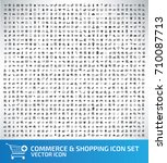 commerce and shopping icon set... | Shutterstock .eps vector #710087713