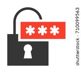 password icon | Shutterstock .eps vector #710099563