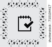 document vector icon | Shutterstock .eps vector #710104417