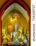Small photo of Buddhist statue in Wat nah phramen,Ayutthaya,Thailand
