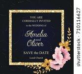 wedding invitation card suite... | Shutterstock .eps vector #710116627