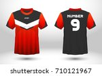 red and black layout football... | Shutterstock .eps vector #710121967