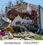 a home destroyed by the... | Shutterstock . vector #710125957