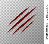 claws animal scratches isolated ... | Shutterstock .eps vector #710128273