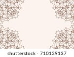 template of greeting card with... | Shutterstock . vector #710129137