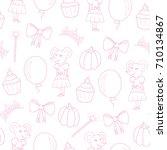 seamless pattern for girls.... | Shutterstock .eps vector #710134867