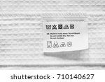 washing instructions clothes...   Shutterstock . vector #710140627