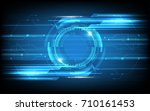 abstract technology background... | Shutterstock .eps vector #710161453