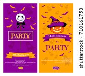 halloween vector illustration... | Shutterstock .eps vector #710161753