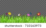 grass flower butterfly on... | Shutterstock .eps vector #710163973