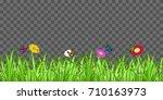 grass flower butterfly on... | Shutterstock .eps vector #710163973