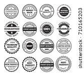 guarantee badges and logos... | Shutterstock .eps vector #710165203