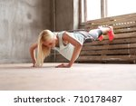 sport and exercise. beautiful... | Shutterstock . vector #710178487
