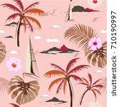 beautiful seamless island... | Shutterstock .eps vector #710190997