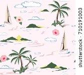 beautiful seamless island... | Shutterstock .eps vector #710191003