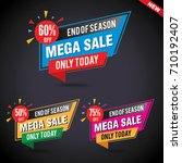 sale and special offer banner ... | Shutterstock .eps vector #710192407