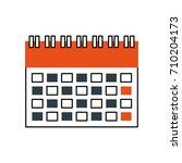 calendar business date... | Shutterstock .eps vector #710204173