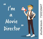 movie director character with... | Shutterstock .eps vector #710210647