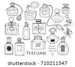 Hand Drawn Perfume Bottles....