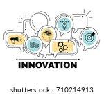 innovation icons set for...   Shutterstock . vector #710214913