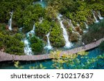 plitvice lakes national park in ... | Shutterstock . vector #710217637