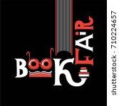 lettering logo for book fair | Shutterstock .eps vector #710224657