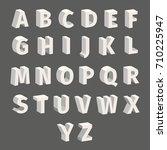 isometric font set isolated on... | Shutterstock .eps vector #710225947