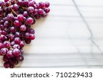 bunches of fresh ripe red... | Shutterstock . vector #710229433