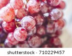bunches of fresh ripe red... | Shutterstock . vector #710229457