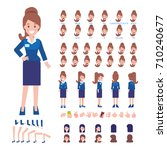 business lady character for... | Shutterstock .eps vector #710240677