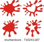 blood splatter with heart and... | Shutterstock .eps vector #710241187