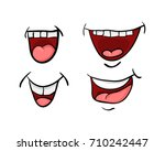 cartoon mouth with tongue and... | Shutterstock .eps vector #710242447