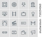 vector illustration of 16 movie ...   Shutterstock .eps vector #710254363