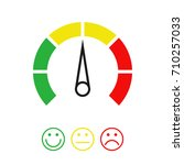 scale of emotions. vector... | Shutterstock .eps vector #710257033