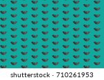 halloween seamless pattern... | Shutterstock .eps vector #710261953
