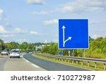 highway with empty signboard ... | Shutterstock . vector #710272987