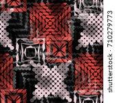 seamless pattern ethnic design. ... | Shutterstock . vector #710279773