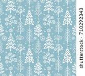 winter seamless christmas... | Shutterstock .eps vector #710292343