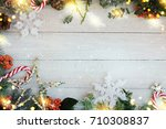 holiday christmas background  | Shutterstock . vector #710308837