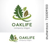 oak life logo template design... | Shutterstock .eps vector #710309503