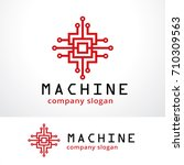machine logo template design... | Shutterstock .eps vector #710309563