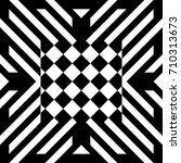 Abstract Tile With Black White...