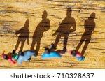 miniature little people  friend ...   Shutterstock . vector #710328637