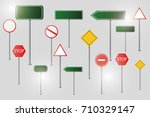 set of road signs isolated on... | Shutterstock .eps vector #710329147