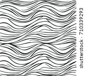hand drawn abstract horizontal... | Shutterstock .eps vector #710339293