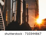 cluster of business and office... | Shutterstock . vector #710344867